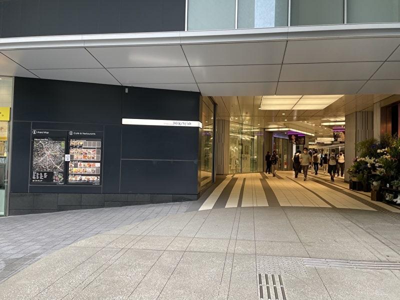 渋谷deゴルフ レッスン ヒカリエ裏口