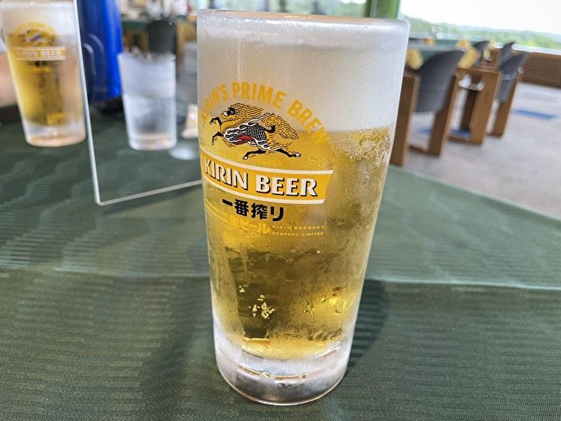 立野クラシックゴルフ倶楽部 レストラン 生ビール