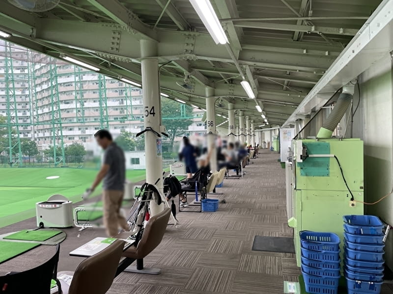 フナボリゴルフ 江戸川区打ちっぱなし 打席